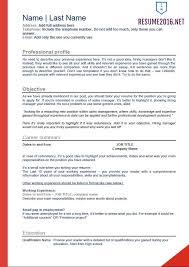 Job Resume Samples 2016 | Experience Resumes