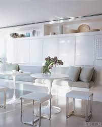 dining room banquette. Dining Room: White Banquette Wit Round Table Plus Room P