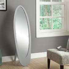 silver floor mirror. Perfect Mirror Billy Contemporary Oval Floor Mirror  Silver Inside