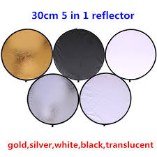 12 30cm 5 in 1 round portable collapsible light photography studio reflector