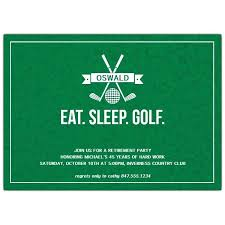 Golf Invitation Template Eat Sleep Golf Retirement Party Invitations Paperstyle Party
