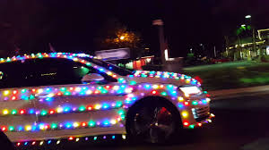 Christmas lights on a car :) - YouTube