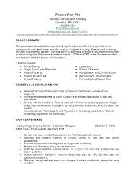 Nursing Resume Summary Goodvibesbrew Com