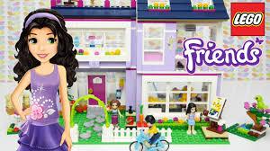 lego friends emma s house set unboxing building review kids toys