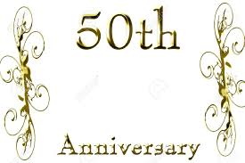 50th anniversary on a solid white background stock photo 5809176