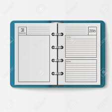 Notebook Sheet Template Open Realistic Notebook With Pages Diary Office Sheet Template