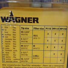 Wagner Spray Gun Tips Sizes Chart Filter Nozzle Lance And Cleaning For The Wagner Airless