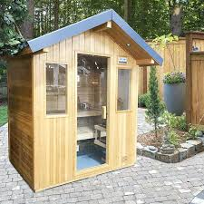 home sauna cost. 4 Person Outdoor Sauna By Saunatec Home Cost