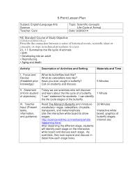 Lesson Plan Sample 24 Point Lesson Plan Sample Butterfly Got Class Pinterest 8