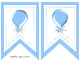 5 Inch Printable Light Blue Swallowtail Banner Letters 0 9 A Z