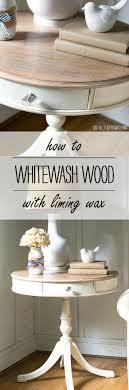 whitewash oak furniture. How To Whitewash Wood Using Liming Wax Oak Furniture I