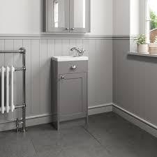 park lane grey traditional floor standing vanity unit basin 400mm width
