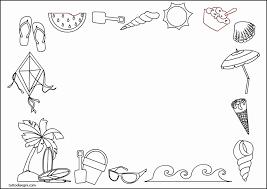 Disegni Estate Da Colorare Per Bambini 5 Cornicette Per Bambini Da