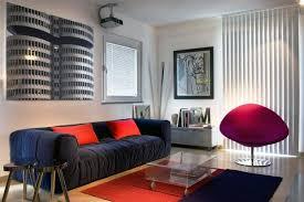 red and black furniture. modern minimalist living room with red and black furniture
