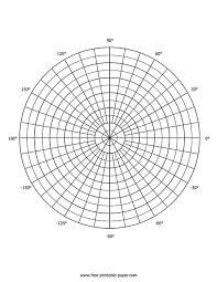 Polar Graph Paper Free Printable Paper