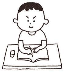 勉強をする男の子のイラスト夏休みの宿題 ゆるかわいい無料イラスト