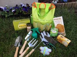 gourmet garden tote with tools gift