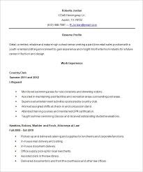 resume for high school student template