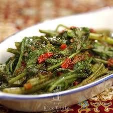 lunch kangkong belachan