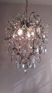 brass and crystal chandelier of recent manufacture compatible with led bulb