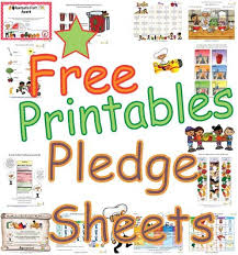 Printable Healthy Habits Goals Pledge Sheets For Kids