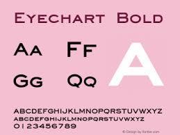 Eyechart Font Eyechart Bold Font Eyechartbold Font Eyechart
