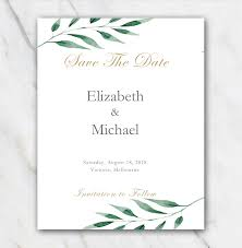 Branch Template Olive Branch Wedding Save The Date Template Temploola Com