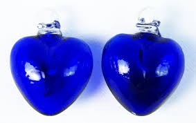 two blue hearts beating as one