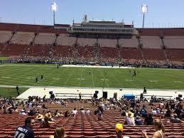 New Usc Coliseum Seating Chart Los Angeles Memorial Coliseum Section 121b Rateyourseats Com