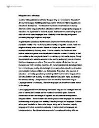 in article bilingual childrens mother tongue why is it important page 1 zoom in