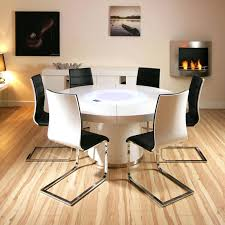 white round dining table for 6 set round extending table with 6 folding chair modern round