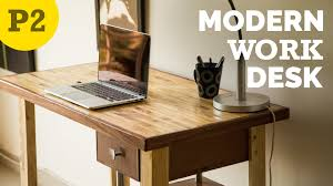 DIY Modern style desk  How to Build