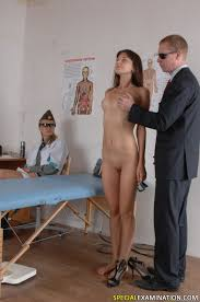 Kinky group medical exam of a nude miss Pichunter