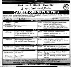 Clinical Assistant Jobs Mukhtar Sheikh Hospital Multan Jobs Clinical Assistant And Many More