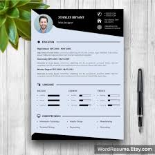 modern resume template photo cover letter stanley bryant resume template mockup 2ro cv
