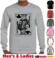 Details About Funny T Shirts King Playing Card Poker Gambling Mens Size Chart Long Sleeve Top