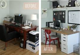 Ikea office ideas Design Ideas Homedit Simple Ikea Office Makeover