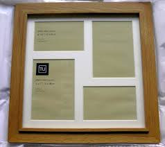 brand new oak multi aperture photo frame can be gift wrapped 40cm x 40cm other picture frames