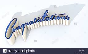 Word For Congratulations An Extruded Curvy Text Spelling Out The Word Congratulations