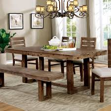 farmhouse furniture style. Furniture Of America Treville Country Farmhouse Natural Tone Plank Style Dining G