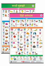 Swar Vyanjan Chart Hindi And Marathi Alphabet And Number Charts For Kids Hindi Varnamala And Marathi Mulakshare Set Of 2 Charts Perfect For Homeschooling
