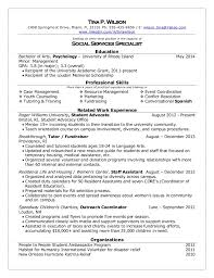 Resume Examples For College Students With No Experience