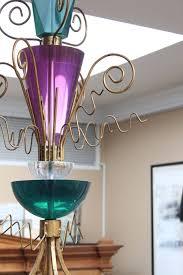 unusual lucite pendant light fixture attributed to van teal 2