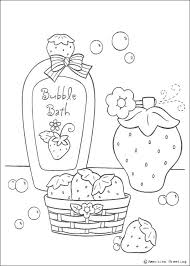 607x850 strawberry bubble bath coloring pages