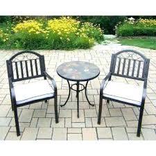 iron patio furniture. Wrought Iron Bistro Set Patio Furniture White Metal Outdoors The Sets