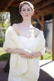 Sissily Designs Etsy Snow White Faux Fur Bridal Wrap Wedding Fur Shrug White Fur
