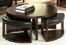table with stools underneath round coffee table with stools beautiful round coffee table with pertaining to