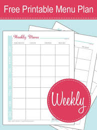 Weekly Menu Free Printable Menu Plan Worksheet! - Passion for Savings