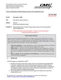 Fillable Online Cms Survey Certification Letter 08 02 Centers