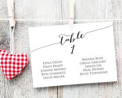 Table Seating Cards Template 1 40 Wedding Seating Chart